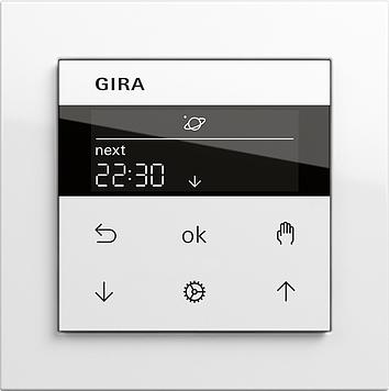 Gira System 3000 Jalousieuhr Display